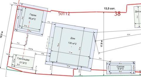 План расположения объектов на участке