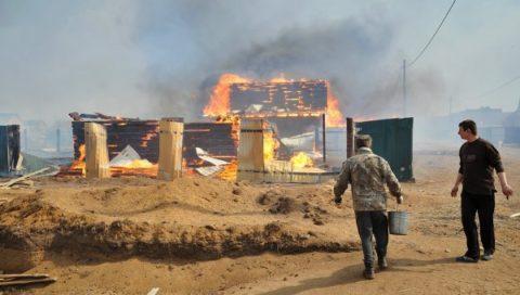 Пожар на своем участке