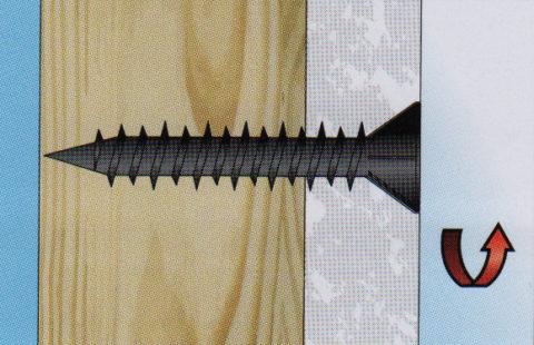 Фиксация материала шурупами