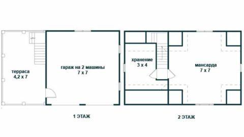 План первого и второго этажей