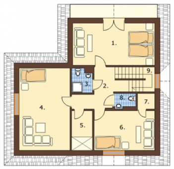 План жилого этажа дома