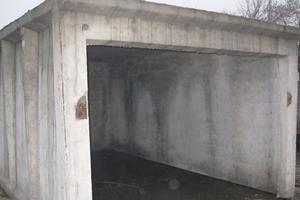 Гараж из бетона