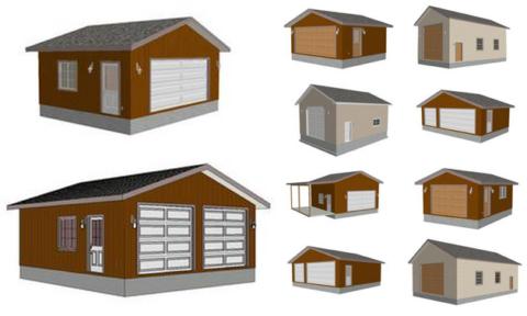 Примеры конструкций гаражей