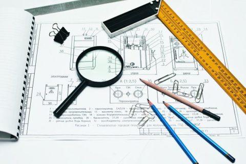 Принадлежности для разработки чертежей