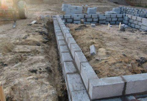 Возведение стен из блоков