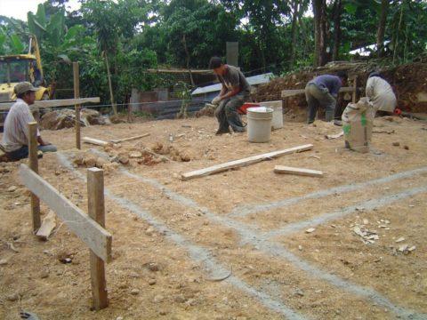 Разметка площадки под фундамент