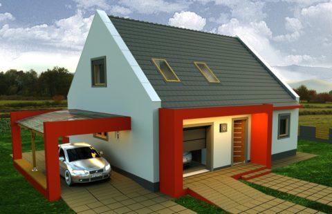 Современный гараж в двух уровнях