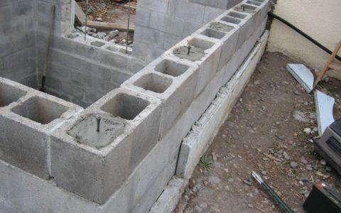 Возведение стен из дырчатых блоков