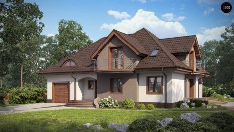 Такой дом может быть построен из любого материала