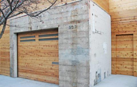 Гараж из бетонных блоков