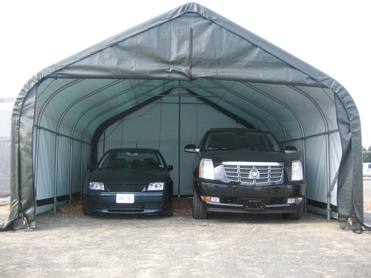 Тент гараж для автомобиля своими руками 33