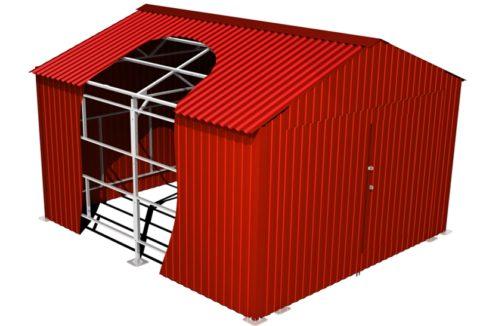 Конструкция сборного гаража их профнастила