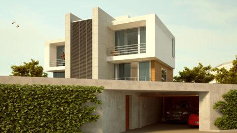Проект дома с подземным гаражом и мансардой