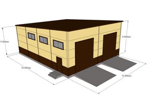 Проект гаража с размерами для большегрузного транспорта