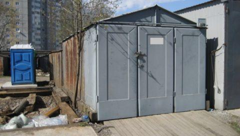 На фото гараж ижорский современного типа