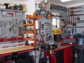 Чертеж слесарного верстака для гаража
