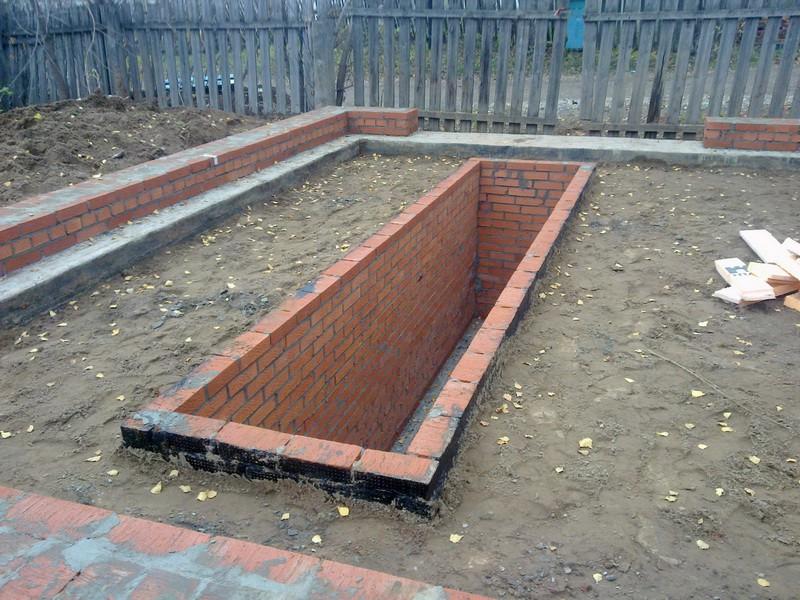 фундамент под гараж с ямой