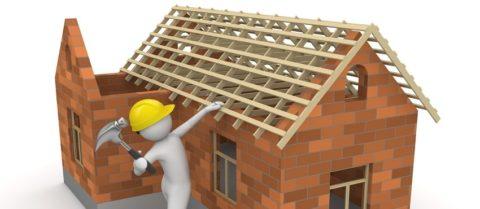 Подведение постройки под крышу