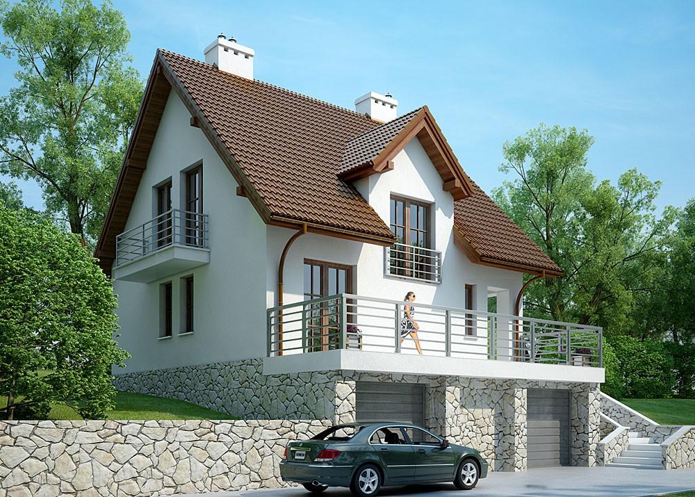 Лада Приора проект дома с цокалем и гаражом решая вопрос как