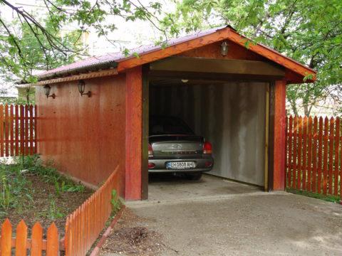 Правильное расположение гаража с выездом на улицу