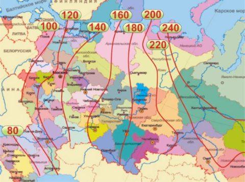 Используйте СНиП 23-01-99 «Строительная климатология»
