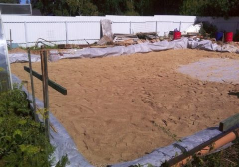 Подушка из песка под плитный фундамент
