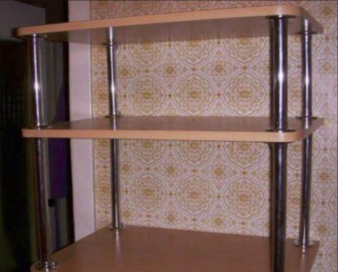 Для дома мебель лучше делать из хромированных трубок