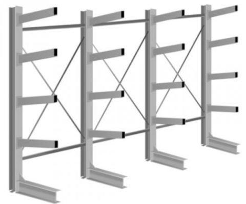 На фото — схема консольной конструкции из профилированных труб