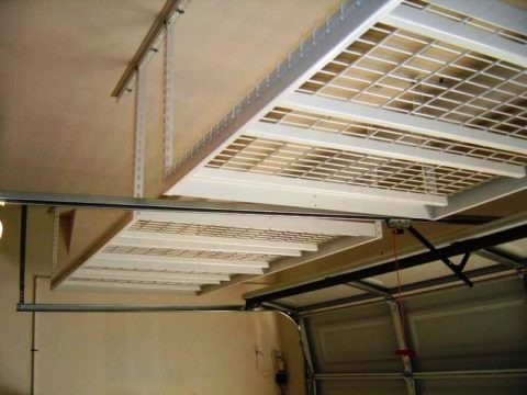 Потолочный стеллаж для гаража