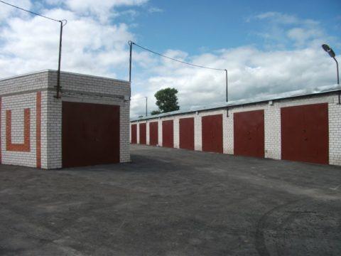 Территория гаражного кооператива