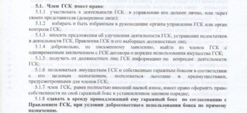 Выписка из Устава касательно прав пайщиков