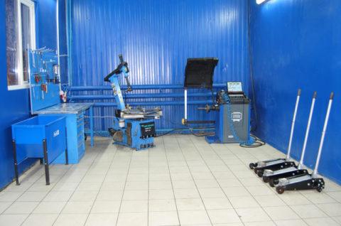 Оборудование для проведения шиномонтажных работ