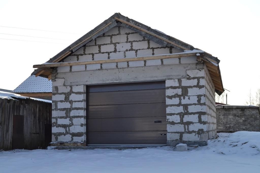 постройка гаража из пеноблоков