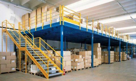 Мезонин для хранения товара на складе