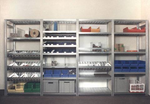 Многофункциональная стеллажная система для склада или гаража