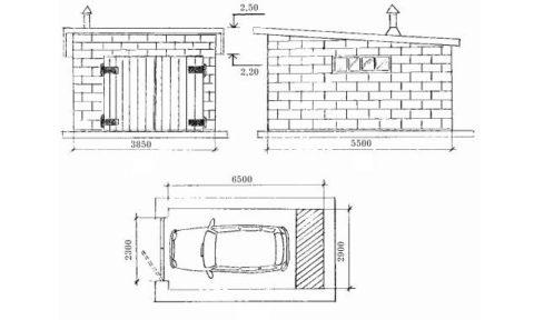 Простейшая конструкция гаража