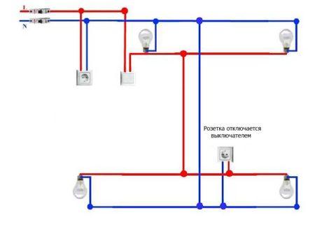Схема расположения потребителей электроэнергии