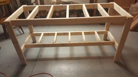 Собранный деревянный каркас