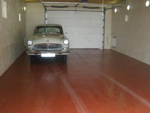 Окрашенный пол в гараже