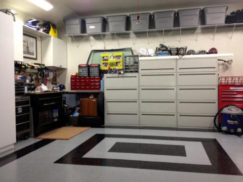 Привлекательный интерьер в гараже