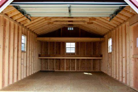Каркасный гараж без утепления