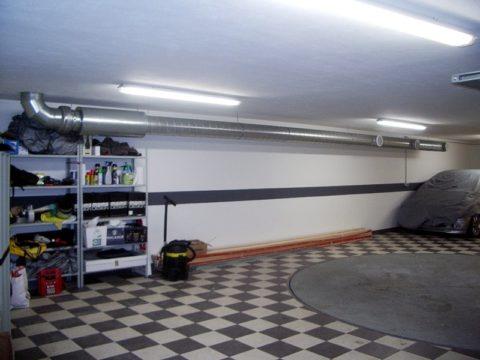 Принудительная вентиляционная система в гараже